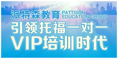 派特森英语初中托福一对四基础课
